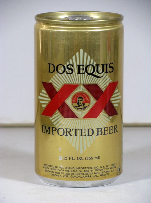 Dos Equis Imported Beer - gold aluminum