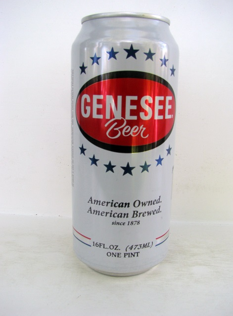 Genesee Beer - 16oz - white w stars