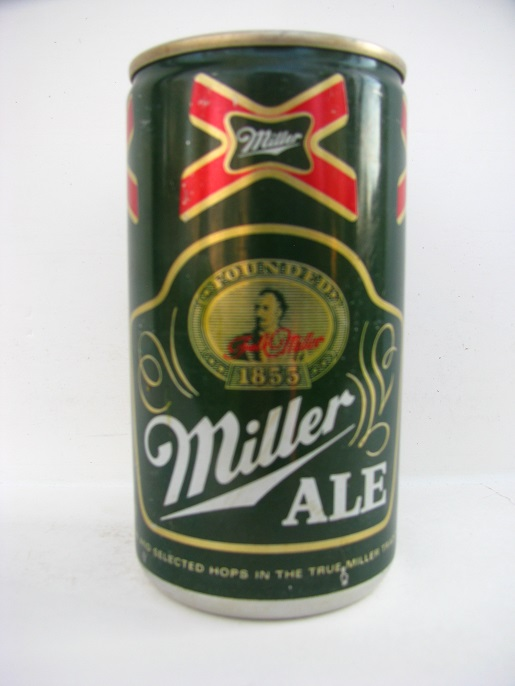 Miller Ale - aluminum - contents on side