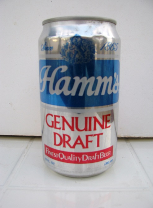 Hamm's Genuine Draft Beer - with red band at bottom