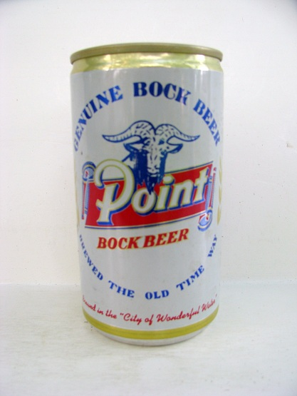 Point Bock - 'Brewed The Old Time Way' - aluminum - white